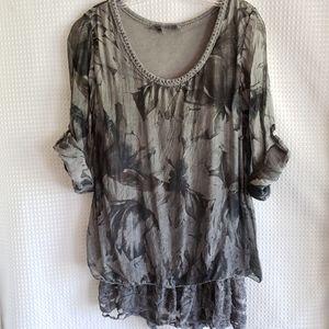 Last SALE❣Donating Tempo Paris blouse size S